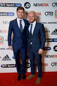 Ben Davies and Jonathan Williams. © FAW