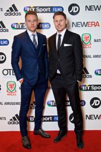 Chris Gunter and Simon Church on the red carpet. © FAW