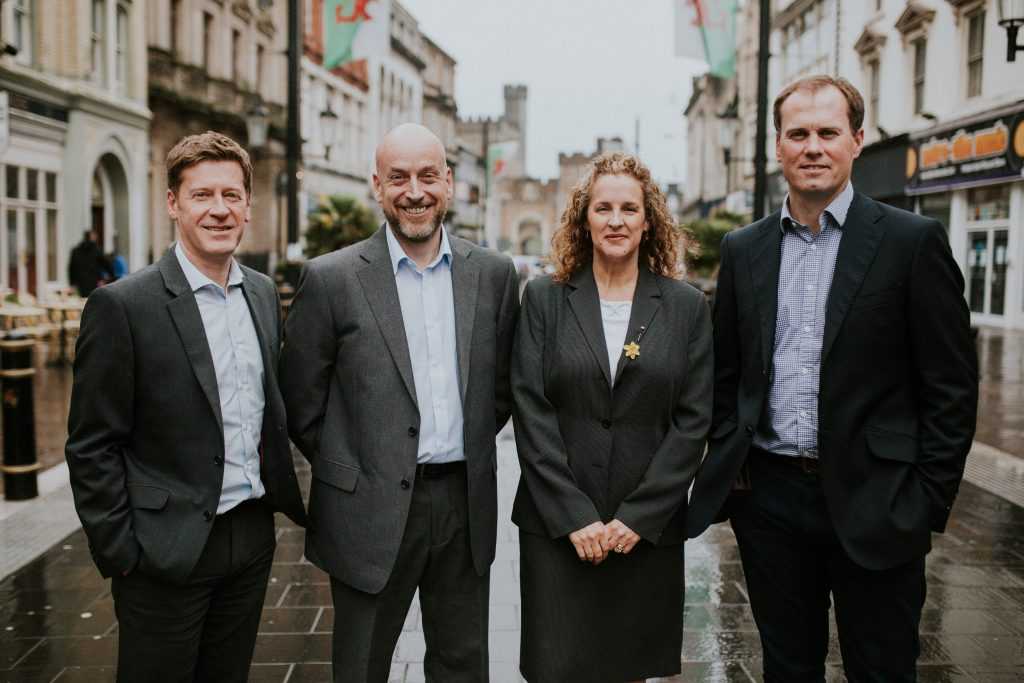 Loosemores HR and Employment Law team, Mark Loosemore, Karl Thomas, Mark Coombes and Angela Coombes (Connective Business Solutions)