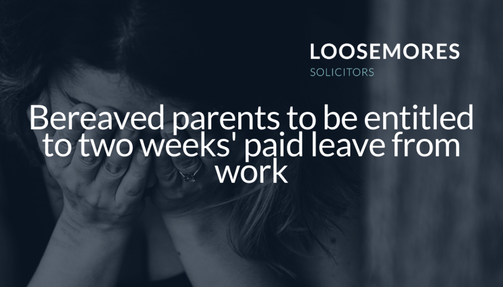 working parents entitled to bereavement pay