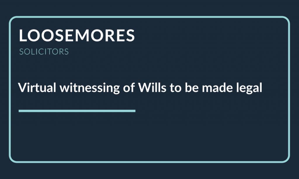 Witnessing of Wills