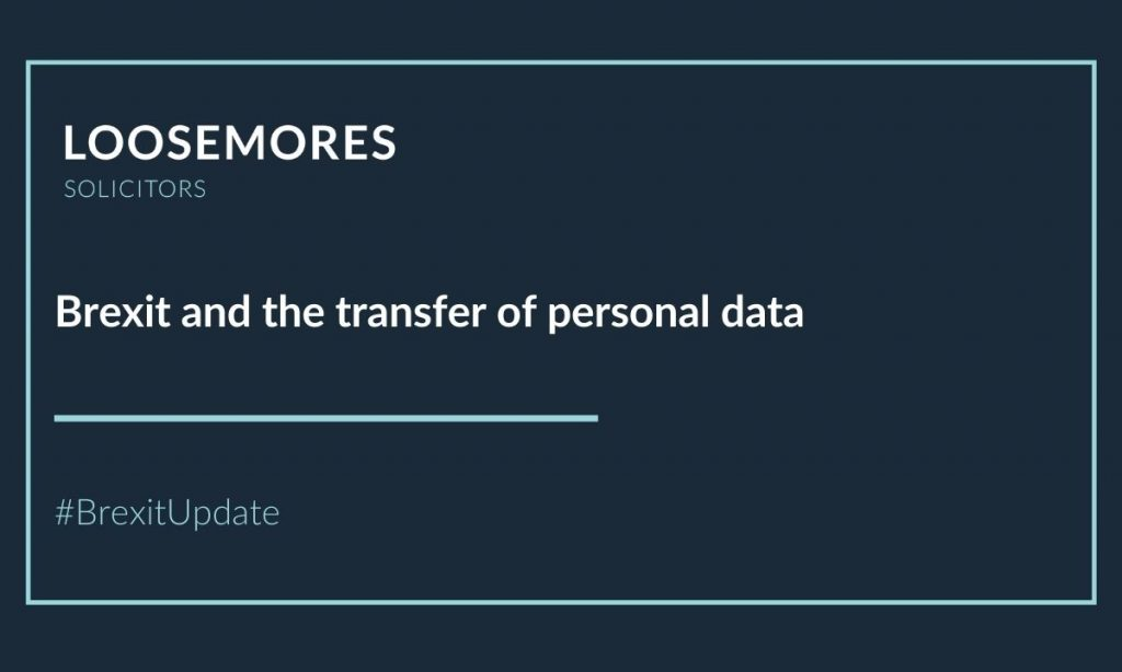 Brexit and the transfer of personal data