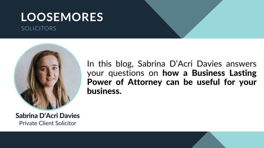 Business lasting power of attorney
